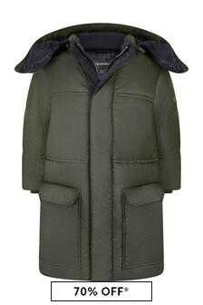 Boys Green Padded Coat