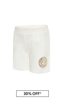 Versace Baby Boys White Cotton Shorts