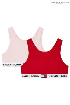 Tommy Hilfiger Red Tommy 85 Bralettes Two Pack