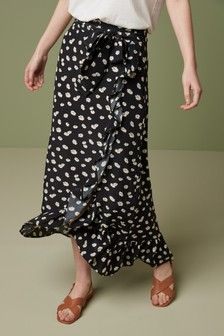 BNWT NEXT Black Lace Pleated Knee Length Skirt RRP £40