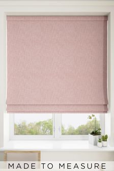 Bouclé Blush Pink Made To Measure Roman Blind