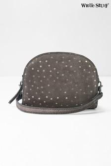 White Stuff Grey Half Moon Reversible Star Bag
