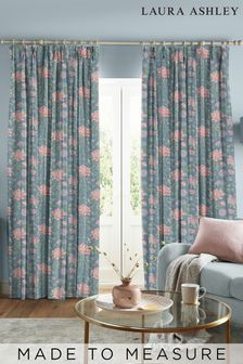 Laura Ashley Tapestry Floral Dusky Seaspray Made to Measure Curtains