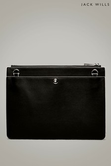 Jack Wills Black Harpen Pouch Bag