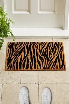 Zebra Flocked Doormat