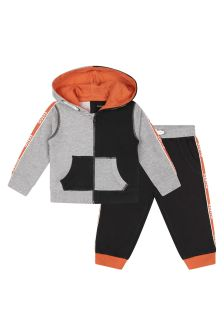 Guess Baby Boys Grey Cotton Tracksuit