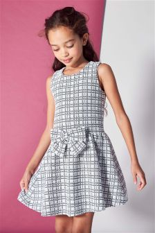 Check Bow Front Dress (3-12yrs)