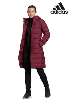 adidas Red Helionic Long Parka