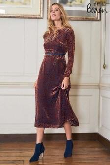 Boden Copper Marie Devore Dress