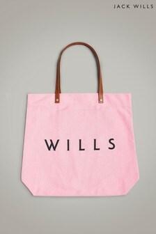 Jack Wills Pink Eastleigh Tote Bag