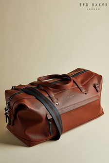 Ted Baker Tan Patche Crossgrain Finish Holdall