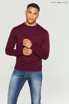 Tommy Hilfiger Red Pima Cotton Cashmere Sweater
