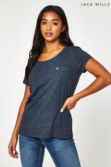 Jack Wills Navy Fullford Pocket T-Shirt