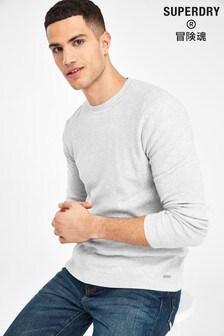 Superdry Grey Edit Cotton Knit Jumper