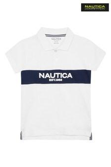 Nautica Competition White Cabin Poloshirt