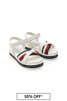 Tommy Hilfiger Girls White Sandals
