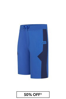 Kenzo Kids Boys Blue Cotton Shorts