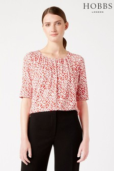 Hobbs Red Viola Top