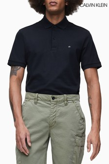 Calvin Klein Black Soft Interlock Slim Fit Polo