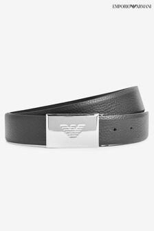 Emporio Armani Silver Buckle Belt