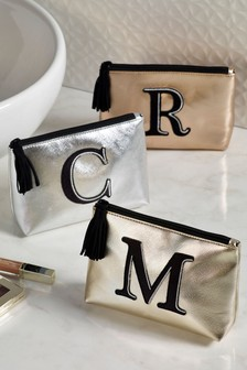 Metallic Alphabet Cosmetics Bag