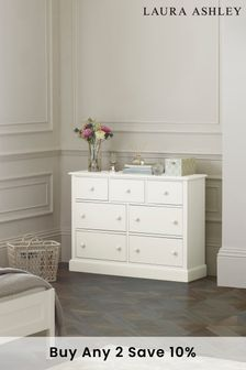 Ashwell Cotton White 3+4 Chest by Laura Ashley