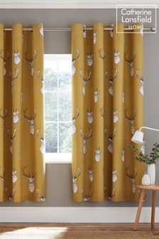 Stag Eyelet Eyelet Curtains by Catherine Lansfield