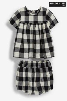Myleene Klass Baby Gingham Top And Shorts Set