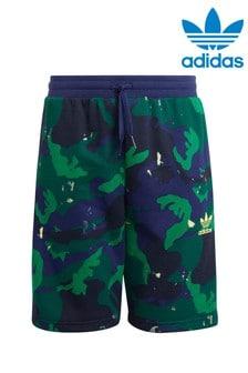 adidas Originals Navy Camo Printed Shorts