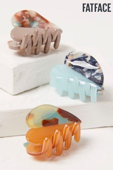 FatFace 3 Pack Print Resin Hair Clips