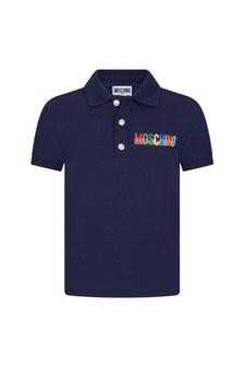 Moschino Kids Cotton Polo Shirt