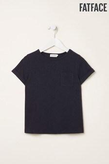FatFace Blue Short Sleeve Plain T-Shirt