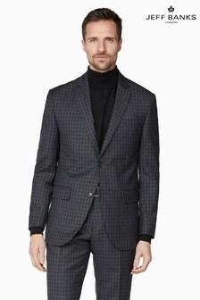 Jeff Banks Grey Soho Regular Fit Suit Jacket