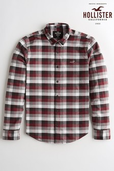 Hollister Burgundy Check Shirt