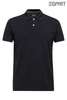 Esprit Black Basic Pique Polo