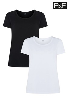 F&F Black/White Tops Two Pack