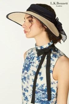 L.K.Bennett Rosemary Large Straw Visor Hat