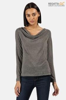 Regatta Grey Frayda Long Sleeve Cowl Neck T-Shirt