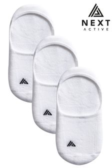 Active Cushion Sole Invisible Socks 3 Pack