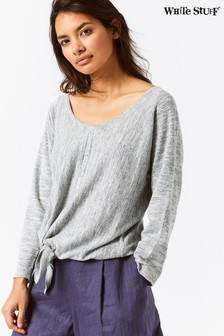 White Stuff Grey Desert Tie Front Jumper