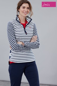 Joules Cream Fairdale Sweatshirt With Zip Neck