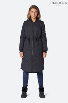 Ilse Jacobsen Hornbæk Padded Quilt Coat In Black