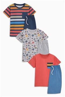 Stripe Short Pyjamas Three Pack (3-16yrs)