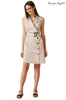 Phase Eight Neutral Leighton Belted Dress