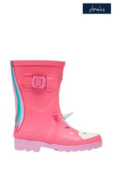 Joules Pink Welly Print Tall Printed Wellies