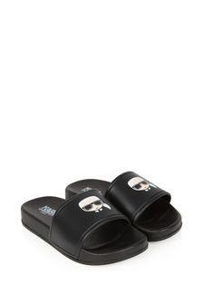 Karl Lagerfeld Girls Black Sandals