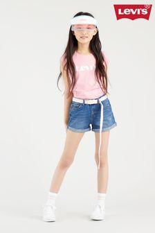 Levi's® Blue Shorty Shorts