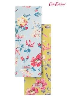 Set of 2 Cath Kidston® Pembroke Rose Cotton Tea Towels