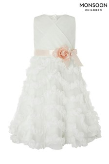 Monsoon Children Cream Beau Blossom Dress