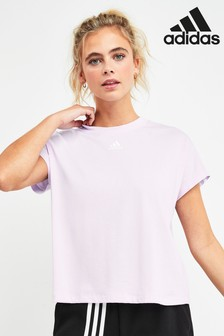 adidas Lilac Must Have 3 Stripe T-Shirt